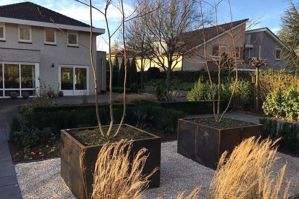 Gerenoveerde tuin rijen